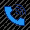 call, communication, phone, ring, ringing, signal, telephone icon