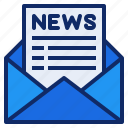 communication, email, letter, news, newspaper, open, paper icon