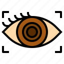 communication, contact, eye icon