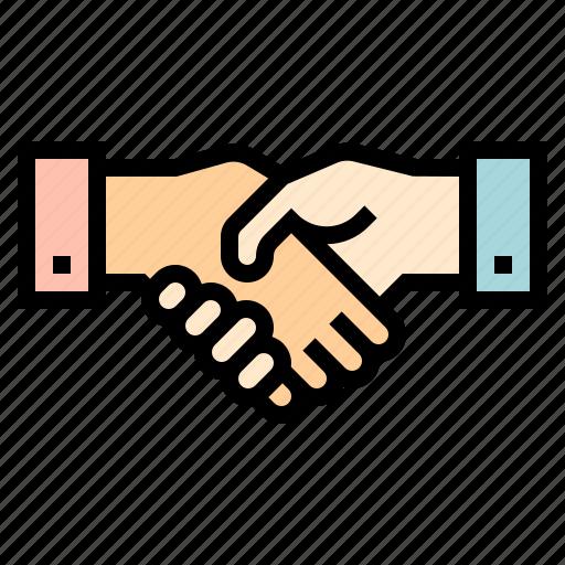 business, communication, handshake, relationship icon