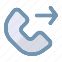 call, communication, contact, outgoing icon