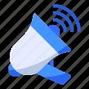 advertising, business, commerce, communication, ecommerce, marketing, megaphone icon