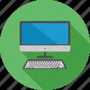 communication, computer, desktop, device, keyboard, screen, technology