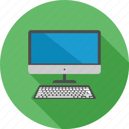communication, computer, desktop, device, keyboard, screen, technology icon
