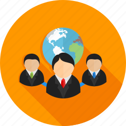 account, client, connected, global, globe, users icon