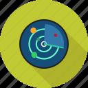 radar, communication, screen, equipment, tracker, military, technology icon