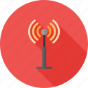 antenna, communication, radio, satellite, signals, tower, waves icon