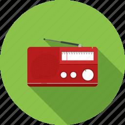 antenna, buttons, cassette, equipment, knob, player, radio icon