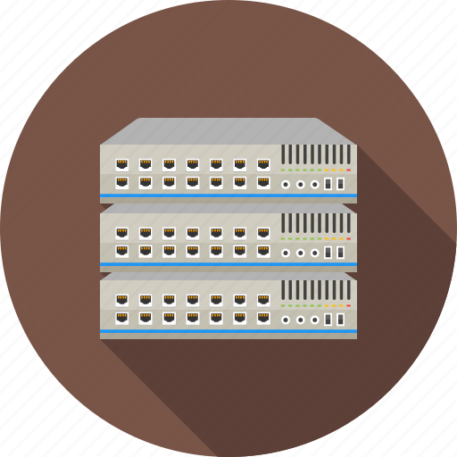 communication, connect, ethernet, network, port, server, switch icon