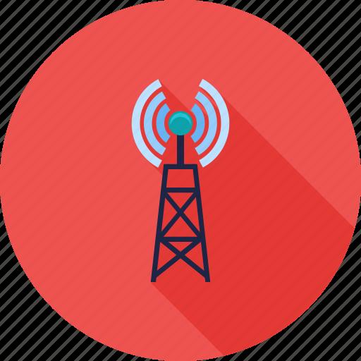 antenna, communication, signals, telecom, telecommunication, tower icon