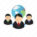 account, client, communication, connected, global, globe, users icon
