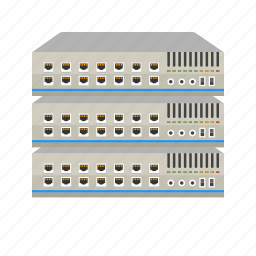 communication, computer, connect, ethernet, network, server, switch icon
