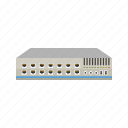 computer, ethernet, hub, internet, network, port, switch icon