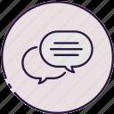 conversation, discussion, communication