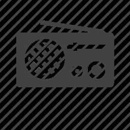antenna, buttons, cassette, equipment, knob, music player, radio icon