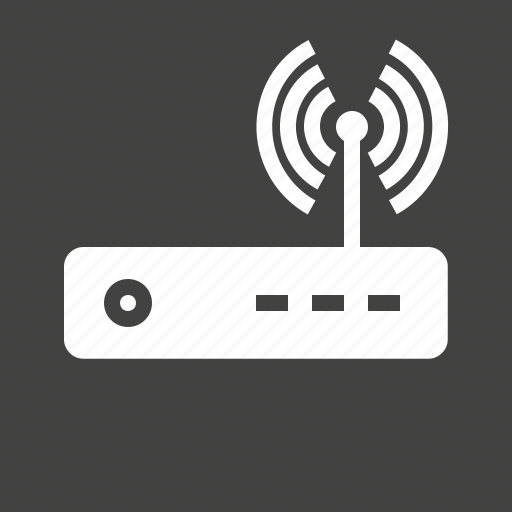 antenna, hardware, internet, modem, router, signals, wi-fi icon