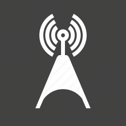 antenna, cellular, communication, signals, telecom, telecommunications, tower icon