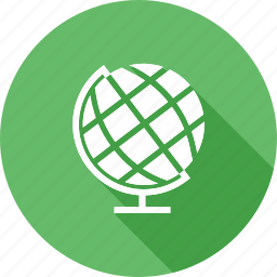 earth, education, geography, globe, map, planet, world icon