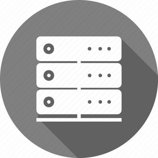 center, communication, data, equipment, server, storage, system icon