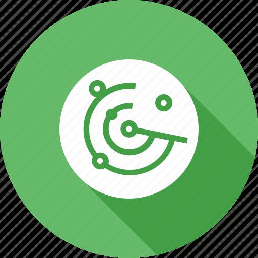 communication, equipment, military, radar, screen, technology, tracker icon