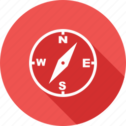 compass, direction, locate, magnet, navigate, needle, travel icon