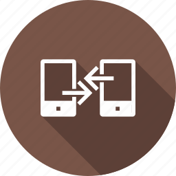 communication, connected, devices, file, link, mobile, transfer icon