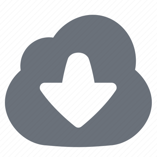 cloud, cloud download, download, downloading, pika, simple icon