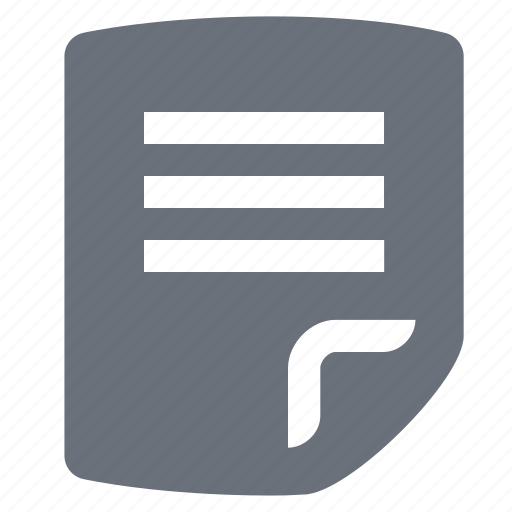 document, file, letter, pika, simple, text file icon