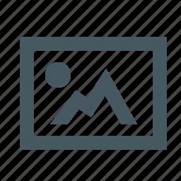 communication, electronics, gizmo, image, media, multimedia, photo, photograph, picture, simple icon