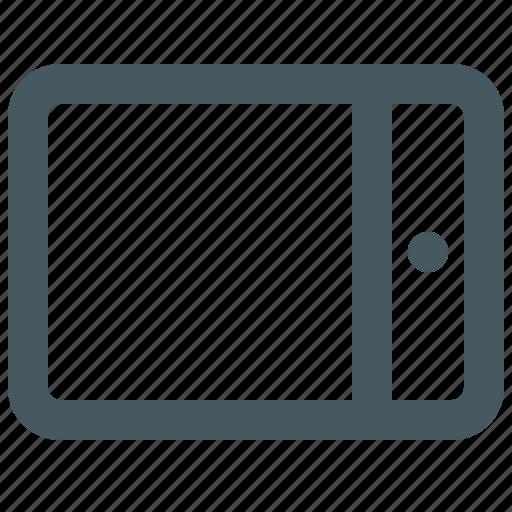 communication, electronics, gizmo, ipad, media, multimedia, simple, tablet icon