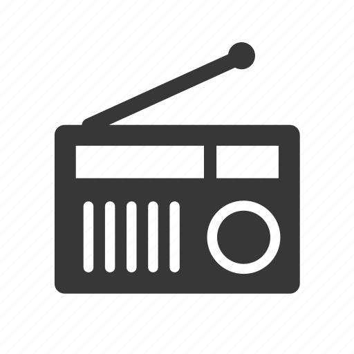 communication, electronics, music, radio, raw, simple, technology icon
