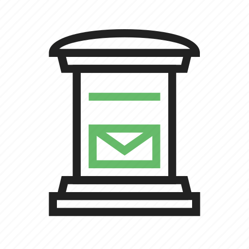 communication, letter, letter box, mail, post, post box, postman icon