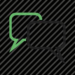 bubble, chat, communication, message, mobile, talk, text icon