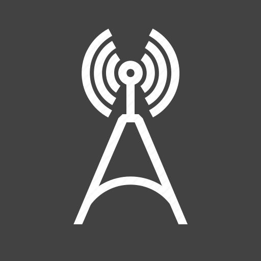antenna, cellular, communication, signals, telecom, telecommunications, tower icon