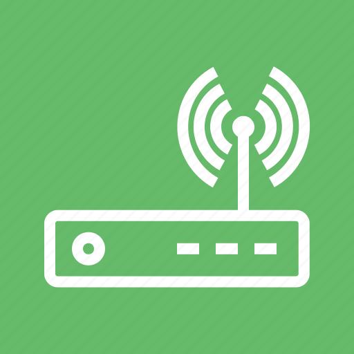 antenna, hardware, internet, modem, router, signals, wi-fi icon
