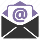 address, communication, contact, contact us, document, e-mail, email, envelope, file, inbox, letter, mail, message, news, notification, post, read, reply, send, sending, subscription icon
