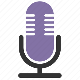 audio, communication, device, equipment, input, mic, microphone, multimedia, music, on air, podcast, radio microphone, radiostation, record, recorder, recording, retro, show, sing, singing, talk, talkshow icon