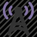 antenna, network, signal icon