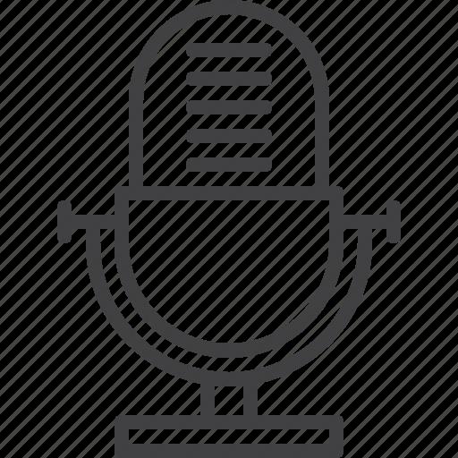 audio, microphone, old, recorder, retro, voice icon