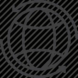 around, arrows, global, globe, worldwide icon
