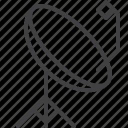antenna, parabolic, radar, satellite, signal icon