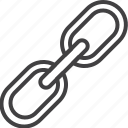 attach, chain, connection, link icon