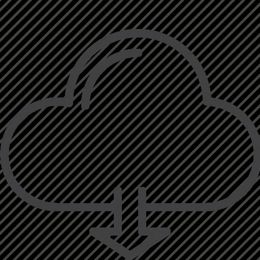 cloud, data, download, hosting, storage icon