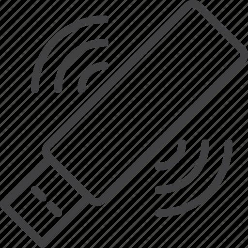 key, plug, stick, usb, wifi icon