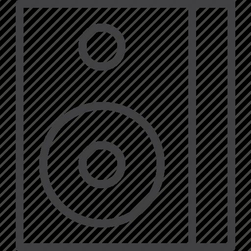 box, loudspeaker, sound, speaker, woofer icon