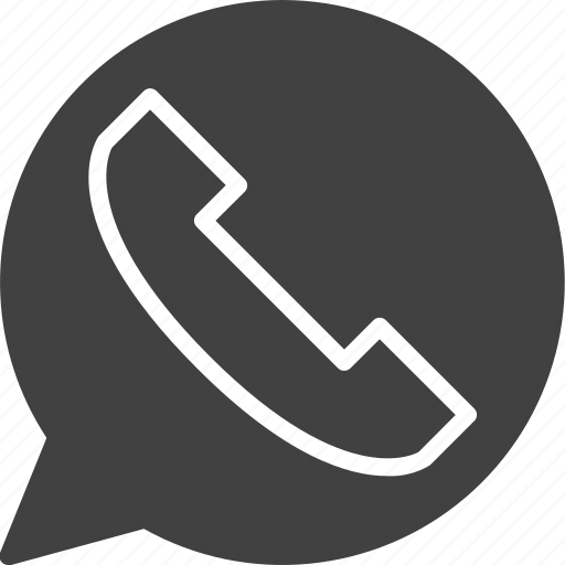 bubble, call, chat, contact, phone, telephone icon