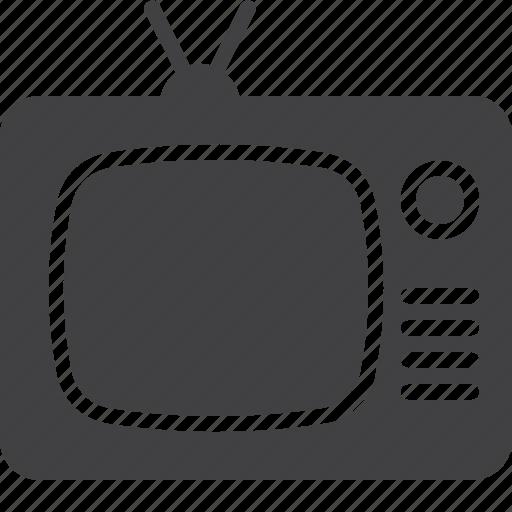 broadcast, old, retro, television, tv icon