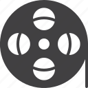 film, filmstrip, media, reel, roll, tape icon