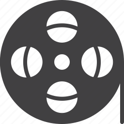 film, filmstrip, media, reel, roll, tape icon