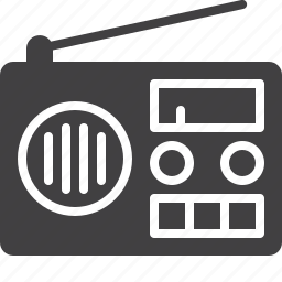 broadcast, fm, music, radio, retro, tuner icon